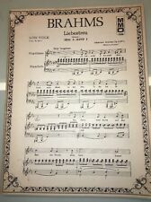 BRAHMS Liebestreu &c. 15 Songs for Low Voice - German & English Texts MMO 7006