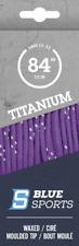 6 pack Titanium Purple / White Wax MT Laces 120 inch hockey skates