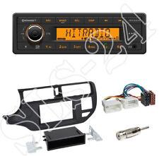 TR7412UB-OR Radio + Kia Rio (UB) 2011-2015 2-DIN Blende schwarz + ISO-Adapter