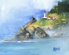 Heceta Head Lighthouse 8x10 Art Print Signed by Artist Ron Krajewski