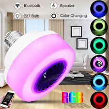 LED Wireless Bluetooth E27 Bulb Light Speaker RGB Phone Music Audio Play Lamp