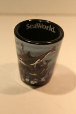 Sea World Ceramic Raised Killer Whale Shot Glass EC