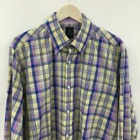 Mens XL TAILORBYRD Plaid Shirt -SUPERB- 38c