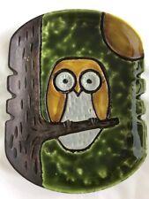 Great Vintage Alvino Bagni Raymor Mid Century Ceramic Owl Tree Vase Bitossi