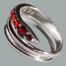 Size 8 Bohemian Rose Cut Garnet Sterling Silver Ring # SR-575 Jewelry Certificat