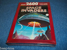 NEW ATARI 2600 SPACE  INVADERS GAME IN FACTORY SEALED SHRINK WRAPPED BOX 7800