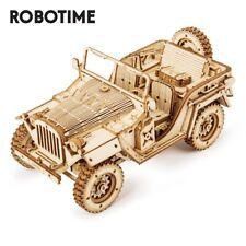 Robotime 3D Wooden Puzzle 369pcs Jeep Car Model DIY Toy Gift for Children Teens
