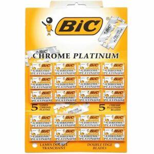 100 count BIC Chrome Platinum Double Edge Safety Razor Blades, 100 Blades