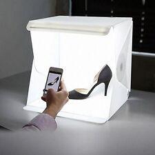 """Light Room Photo Studio 9"""" Photography LED Lighting Tent Backdrop Cube Mini Box"""