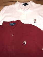 Lot of 2 Men's VTG POLO RALPH LAUREN Long Sleeve Shirt SKIING SKI BEAR Size XL