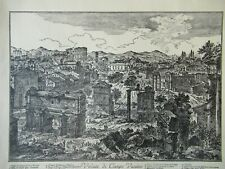 "PIRANESI 19TH C. ENGRAVING (REPRODUCTION)  CAMPO VACCINO FROM ""VIEWS OF ROME"""