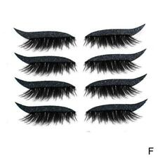 4 To 8 Reusable Eyeliner And Eyelash Stickers For Girls Fashion Beauty