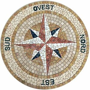 Rosoni in marmo mosaici greca cm 29X 4,5 IN MARMO ART 108//7