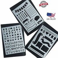 Bullet Journal Stencil Set Plastic Planner DIY Drawing Template Diary US