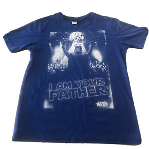 Star Wars T-Shirt Darth Vader I Am Your Father Blue Size S