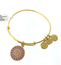Alex and Ani Charity By Design Spiral Sun Bangle Bracelet in Shiny Gold