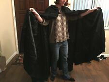 Black Wool Vampire Cape