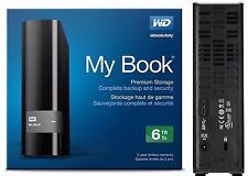 WD Western Digital 6TB MY BOOK External Hard Drive 3.0 USB WDBFJK0060HBK 6
