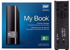 WD Western Digital 6TB MY BOOK External Hard Drive 3.0 USB WDBFJK0060HBK 6 TB