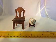 1/12 MINIATURE VINTAGE CHILDREN'S WOODEN CHAIR (COULD BE USED AS 1/16 SCALE)