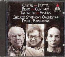 CARTER - Partita / BERIO - Continuo / TAKEMITSU - Visions - Daniel BARENBOIM