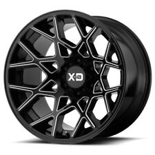 "20 Inch Black Wheels Rims XD Series Chopstick 6x5.5 6x139.7 Lug 20x10"" -24mm NEW"