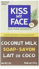亲吻我的脸纯椰子牛奶肥皂条混合与芒果奶油 5 盎司