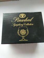 Vintage Pair of Bohemia Crystal Pinwheel Symphony Collection Brandy Glasses box
