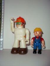 Vtg People Constructor Builder Action Figures Lot Of 2