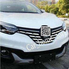 7PCS Car ABS chrome front grille cover trim  for RENAULT KADJAR 2016