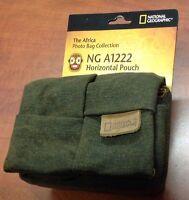 NATIONAL GEOGRAPHIC NG - A1222 BROWN HORIZONTAL POUCH / CAMERA BAG