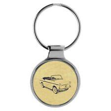 Geschenk für Autobianchi Bianchina Cabrio Fans Schlüsselanhänger A-4108