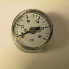 "LIVE STEAM ~0 TO 100 PSIG MINIATURE PRESSURE GAUGE (5/16-27) - 1"" DIAL - NEW"