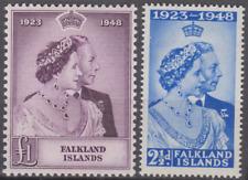 Falkland Islands 1948 Silver Wedding Mint Mounted Set
