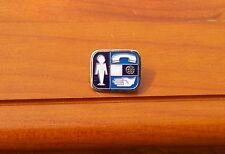 "Telephone Phone Company Logo 3/4"" Lapel Pin Pinback"