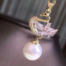 Round Sakura Pink Akoya Pearl Pendant Silver Plated Gold 8MM AAAA+