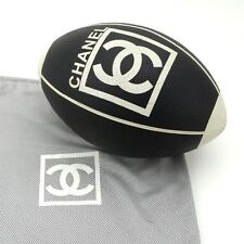 CHANEL Rare RUGBY Ball football CC logo display limited luxury VIP gift Black