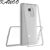 360 Degree Full Body Clear TPU Soft Rubber Case Cover For Xiaomi Redmi Note 4X