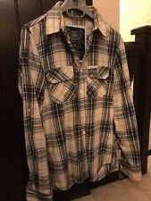 Superdry Check Lumberjack Flannel Shirt Mens - Small - Please Read Description