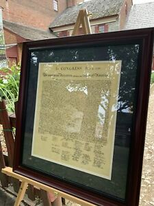 The Declaration of Independence (replica) in an Elegant Frame