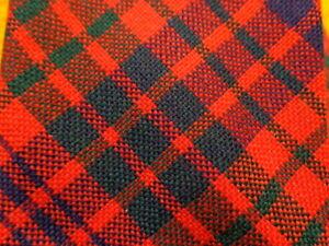 """ ROSS "" RED TARTAN ~ SCOT SCOTTISH SCOTLAND ~ MENS DRESS SHIRT SUIT TIE ~ 54"""