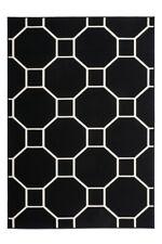 Flachflor  Modern Kasten Design Teppich 3D Effekt Schwarz Elfenbein 200x290cm