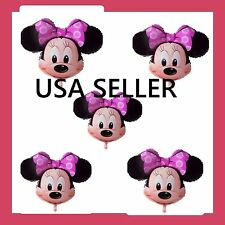 """SET OF 5 New  Disney Minnie Mouse Balloon 27.5"""" Birthday Party Baby Shower"""