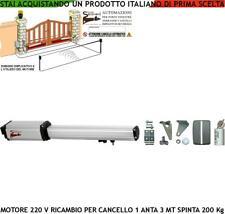 CANCELLO AUTOMATICO 3 MT MOTORE 220 V RICAMBIO COMPATIBILE VDS FADINI CAME DELMA