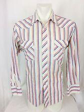 Vintage 1980's Wrangler Pearl Snap Western Shirt. Men's Large.  Excellent