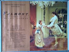 Cinema Poster: VALMONT 1991 (Quad) Milos Forman Colin Firth Annette Bening