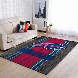 HOT Buffalo Bills NFL Team Wooden Style Nice Gift Home Decor Rectangle Area Rug