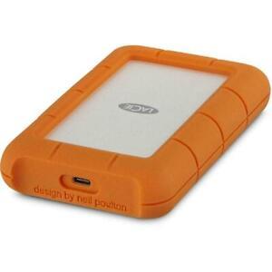 1TB USB-C External Hard Drive LACIE Rugged USB 3.1 Portable HD THUNDERBOLT 3