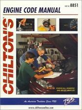 Engine Code Manual by Chilton Automotive Editorial Staff (1998, Paperback) 8851