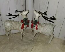 Christmas/Winter Reindeer figurines decor 2pc